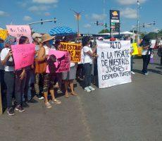 Marchan para pedir justicia por feminicidios en Tuxtepec