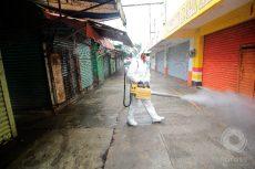 En operativo de 3 días, sanitizan la Central de Abasto de Oaxaca contra Covid-19