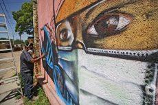 Con mural en el Barrio de Xochimilco, reconocen a los héroes que luchan contra el Covid-19 en Oaxaca