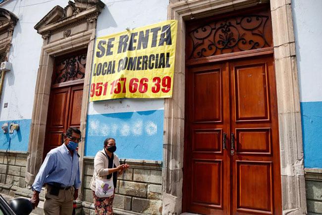 10 % de los comercios en la la ciudad de Oaxaca cerraron sus puertas: Canacope