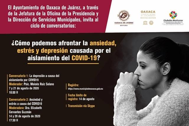 Invitan a conversatorio sobre depresión y ansiedad a causa del Covid-19