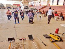 Imparte Coesfo taller para combatir incendios forestales en Nochixtlán