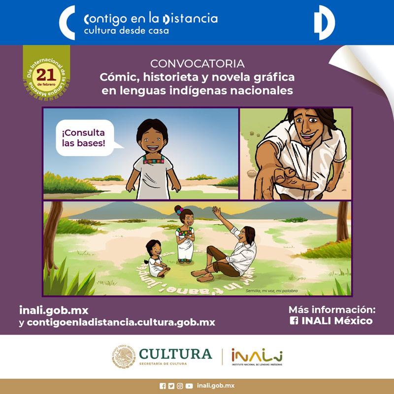 Aún se puede participar en la convocatoria para la creación de trabajos de cómic, historieta y novela gráfica en lenguas indígena