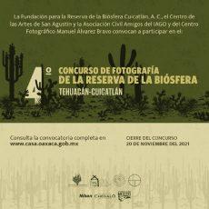 Invitan a participar en Concurso de Fotografía de la Reserva de la Biósfera Tehuacán-Cuicatlán 2021